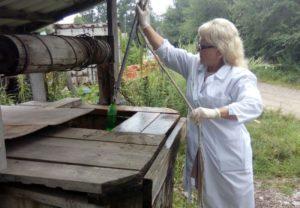 Дезинфекция колодца в деревне Чепелёво